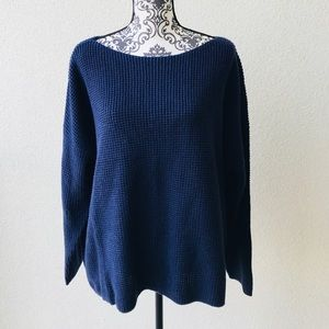 😍 NWT Lord&taylor navy casual oversized sweater2X